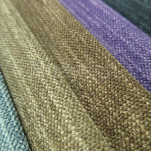 dyed linen yarn fabric close look