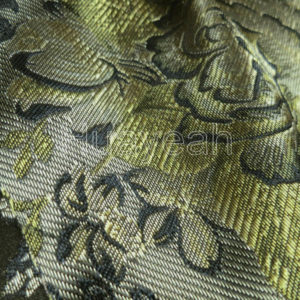 floral woven jacquard fabric backside