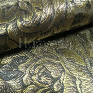 floral woven jacquard fabric close look