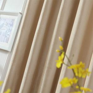 velvet plain curtain fabric