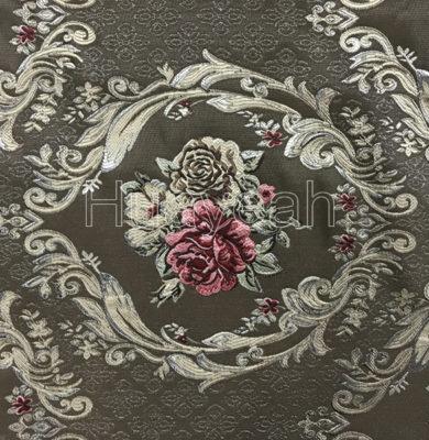 flowers jacquard fabric
